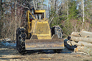 Skidder in a New Hampshire forest