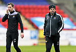 St Johnstone Training...06.05.21<br />Manager Callum Davidson and first team coach Steven MacLean pictured during training at McDiarmid Park ahead of Sundays Scottish Cup semi-final against St Mirren.<br />Picture by Graeme Hart.<br />Copyright Perthshire Picture Agency<br />Tel: 01738 623350  Mobile: 07990 594431