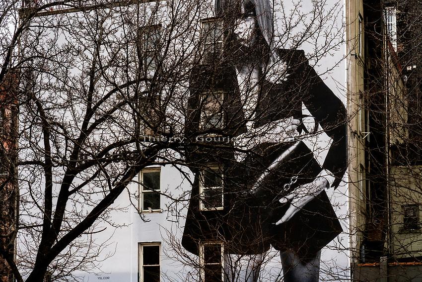 "West Houston St / West Broadway St.<br /> From the ""Tall Figures"" series. <br /> Manhattan, New York.<br /> © 2021 Thierry Gourjon"