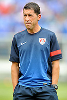 Tabare Ramos head coach of the U.S. U-20.  The USMNT defeated El Salvador 5-1 at the quaterfinal game of the Concacaf Gold Cup, M&T Stadium, Sunday July 21 , 2013.