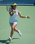 Sofia Arvidsson (SWE) loses  at the Western and Southern Financial Group Masters Series in Cincinnati on August 15, 2012