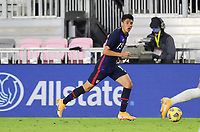 FORT LAUDERDALE, FL - DECEMBER 09: Marco Farfan #15 of the United States with the ball during a game between El Salvador and USMNT at Inter Miami CF Stadium on December 09, 2020 in Fort Lauderdale, Florida.