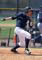 March 26, 2010:  Ramon Flores of the New York Yankees organization during Spring Training at the Yankees Minor League Complex in Tampa, FL.  Photo By Mike Janes/Four Seam Images