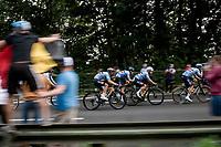 Team Belgium speeding along<br /> <br /> Elite Men World Championships - Road Race<br /> from Antwerp to Leuven (268.3km)<br /> <br /> UCI Road World Championships - Flanders Belgium 2021<br /> <br /> ©kramon