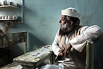 June 21 2012, New Delhi, India:   A muslim man at a cafe on Old Delhi waiting for his tea.       Picture by Graham Crouch/Holland Herald