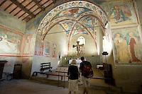 Italien, Umbrien, Kirche San Michele Arcangel auf Isola Maggiore im Trsaimenischen See, Fresken um 1500