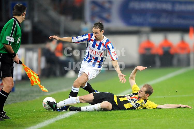 voetbal sc heerenveen - vitesse erediivisie seizoen 2008-2009 29-10-2008  roy beerens met frank van der struijk..