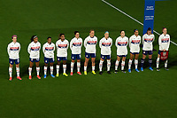 ORLANDO CITY, FL - FEBRUARY 18: USWNT Starting XI prior to a game between Canada and USWNT at Exploria stadium on February 18, 2021 in Orlando City, Florida.