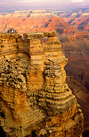 Grand Canyon, Arizona, United States of America.  Visitors on a spectacular look out..