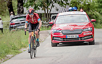 Mark Padun (UKR/Bahrain - Victorious) solo's up the Col de Joux Plane (HC/1691m/11.6 km@8.5 %) on his way to his 2nd consecutive stage win with yet another fenomenal ride up the final climb(s).<br /> <br /> 73rd Critérium du Dauphiné 2021 (2.UWT)<br /> Stage 8 (Final) from La Léchère-Les-Bains to Les Gets (147km)<br /> <br /> ©kramon