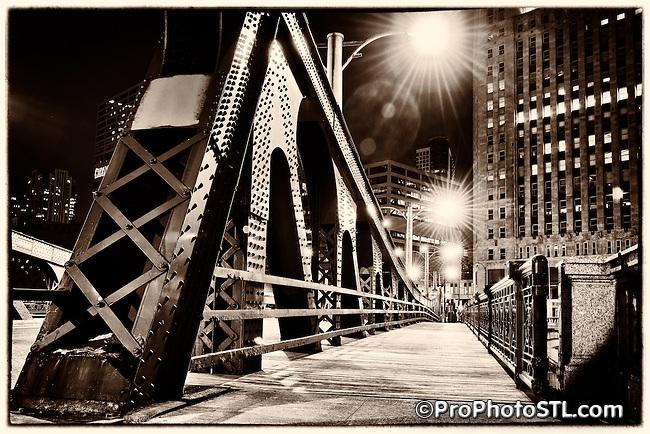 Chicago city at night
