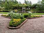BRICK PATHS, FORMAL FLOWER BED,  LUTHER BURBANK HOME & GARDEN.