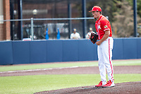 Maryland Terrapins pitcher Ryan Ramsey (32) celebrates defeating the Michigan Wolverines on May 23, 2021 in NCAA baseball action at Ray Fisher Stadium in Ann Arbor, Michigan. Maryland beat the Wolverines 7-3. (Andrew Woolley/Four Seam Images)