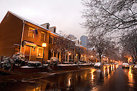 A light snowfall changes the look of Charlotte, NC, albeit briefly.