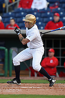 February 27, 2010:  Outfielder Matt Grosso of the Notre Dame Fighting Irish during the Big East/Big 10 Challenge at Bright House Field in Clearwater, FL.  Photo By Mike Janes/Four Seam Images
