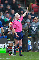 Referee Neil Paterson during the Heineken Cup match between Harlequins and Connacht Rugby at The Twickenham Stoop on Saturday 12th January 2013 (Photo by Rob Munro).