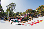Team 失速病床  in action during the Red Bull Soapbox Race 2017 Taipei at Multipurpose Gymnasium National Taiwan Sport University on 01 October 2017, in Taipei, Taiwan. Photo by Victor Fraile / Power Sport Images