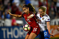 Frisco, TX - April 6, 2017: The U.S. Women's national team defeat Russia 4-0 in an international friendly match at Toyota stadium.