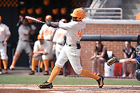 Tennessee Volunteers left fielder Vincent Jackson (40) swings at a pitch during game one of a double header against the UC Irvine Anteaters at Lindsey Nelson Stadium on March 12, 2016 in Knoxville, Tennessee. The Volunteers defeated the Anteaters 14-4. (Tony Farlow/Four Seam Images)