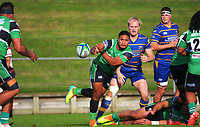 Action from the North Harbour premier club rugby match between Takapuna and Kumeu at Onewa Domain in Takapuna, New Zealand on Saturday, 19 June 2021. Photo: Dave Lintott / lintottphoto.co.nz