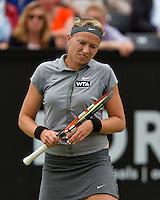 Netherlands, Den Bosch, 18.06.2014. Tennis, Topshelf Open, Michaella Krajicek (NED) is frustrated<br /> Photo:Tennisimages/Henk Koster