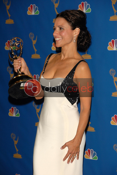 Julia Louis-Dreyfus<br />in the Press Room at the 58th Annual Primetime Emmy Awards. The Shrine Auditorium, Los Angeles, CA. 08-27-06<br />Scott Kirkland/DailyCeleb.com 818-249-4998