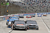 #51: Chandler Smith, Kyle Busch Motorsports, Toyota Tundra JBL and #38: Todd Gilliland, Front Row Motorsports, Ford F-150 Frontline Enterprise Inc