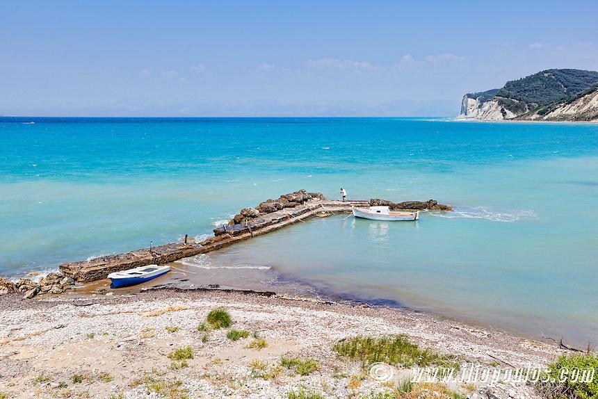 A small harbor at Agios Stefanos in Corfu, Greece