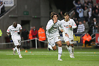 Pictured: Guillem Bauzà of Swansea City in action <br />