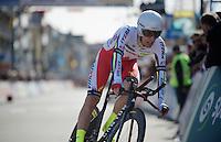 Sven Erik Bystrom (NOR/Katusha) finishing his TT<br /> <br /> 3 Days of De Panne 2015<br /> stage 3b: De Panne-De Panne TT