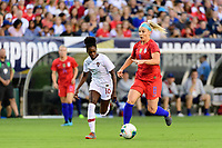 PHILADELPHIA, PA - AUGUST 29: Diana Silva #16 of Portugal chases Julie Ertz #8 of the United States during a game between Portugal and USWNT at Lincoln Financial Field on August 29, 2019 in Philadelphia, PA.