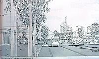 "San Diego: El Cajon Blvd.--""Proposed Improvements"". 1988 project."