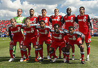 02 April 2011: The Toronto FC starting eleven  during an MLS game between Chivas USA and the Toronto FC at BMO Field in Toronto, Ontario Canada...