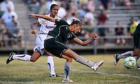 Ashlee Pistorius shoots on goal..Saint Louis Athletica were defeated 2-1 by LA Sol, at Anheuser-Busch Soccer Park, Fenton, Missouri.