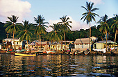Fishing boats on the shore in Soufriere