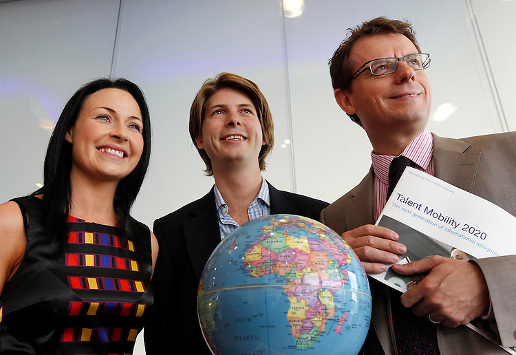 .Pictured launching PwC's new report 'Talent Mobility 2020' are (left to right ) Cecilia Ronan, HR Director, Citi Ireland, Lucian Tarnowski, founder BraveNewTalent.com, and Mark Carter, HR Services Partner, PwC . Pic Robbie Reynolds