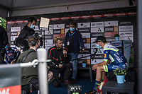 post race sporza interview with Danny Van Poppel (NED/Intermarche-Wanty Gobert)<br /> <br /> 17th Dwars Door Het Hageland 2021<br /> One Day Race: Aarschot – Diest 18Okm (UCI 1.Pro)<br /> Bingoal Cycling Cup 2021<br /> <br /> ©kramon