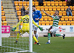 St Johnstone v Celtic…03.02.19…   McDiarmid Park    SPFL<br />Tony Watt misses a chance to score<br />Picture by Graeme Hart. <br />Copyright Perthshire Picture Agency<br />Tel: 01738 623350  Mobile: 07990 594431