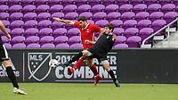 Orlando, Florida - Saturday January 13, 2018: Albert Ruiz and Luis Argudo. Match Day 1 of the 2018 adidas MLS Player Combine was held Orlando City Stadium.