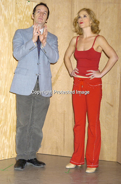 """Denis O'Hare and Christina Applegate ..at a rehearsal for the revival of """"Sweet Charity"""" starring ..Christina Applegate and Dennis O'Hare on January 19, 2005 at the New 42nd Street Studios.  ..Photo by Robin Platzer, Twin Images"""