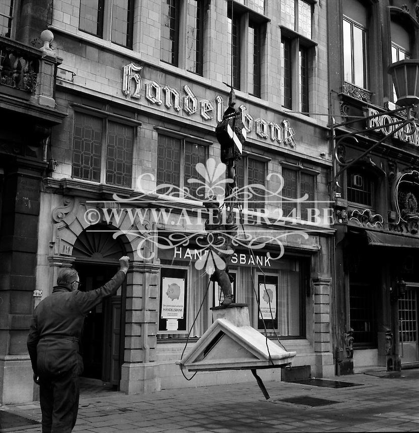 Grote Markt in Antwerpen in 1975.