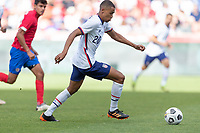 SANDY, UT - JUNE 10: Reggie Cannon #20 of the United States scores a goal and celebrates during a game between Costa Rica and USMNT at Rio Tinto Stadium on June 10, 2021 in Sandy, Utah.