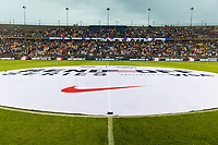 EAST HARTFORD, CT - JULY 1: Center Circle before a game between Mexico and USWNT at Rentschler Field on July 1, 2021 in East Hartford, Connecticut.