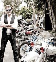 JOHNNY HALLYDAY<br /> L.A<br /> 2008<br /> © CORLOUER/ DALLE<br />  Exclusif!!