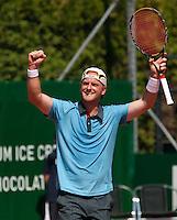 15-8-09, Den Bosch,Nationale Tennis Kampioenschappen, Halve Finale, Bart de Gier  Plaatst zich voor de finale
