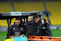 Braydon Ennor is carried off after rupturing his ACL during the rugby match between North and South at Sky Stadium in Wellington, New Zealand on Saturday, 5 September 2020. Photo: Dave Lintott / lintottphoto.co.nz