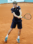 David Goffin during Madrid Open Tennis 2015 match.May, 4, 2015.(ALTERPHOTOS/Acero)
