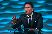Louis Aguirre co-host of  The insider speak onstage during the Humane Society of the United States' Celebrating Animals Confronting Cruelty Gala, Friday, March 11, 2016 in Miami. The event benefitted the HSUS Animal Rescue Team and South Florida Wildlife Center, and honored Joanna Krupa with the Inspirational Honoree Award, and LUSH Cosmetics with the Corporate Consciousness Award. (Jesus Aranguren/AP Images for The Humane Society of the United States)