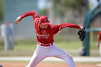 St. Louis Cardinals Tyler Bray (27) during a minor league Spring Training game against the New York Mets on March 28, 2017 at the Roger Dean Stadium Complex in Jupiter, Florida.  (Mike Janes/Four Seam Images)