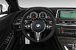 Steering wheel view of a 2014 BMW M6 Convertible